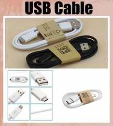 Wholesale Galaxy S4 Led - Micro USB Charger Cable for Samsung Galaxy S4 Note 2 Sync Data Charging Adapter Lead Cord for HTC LG Nokia Cell Phones Universal