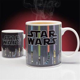 Wholesale Temperature Color Changing Coffee Mug - Star Wars Lightsaber Heat Reveal Mug Color Change Coffee Cup Sensitive Morphing Mugs Temperature Sensing Birthday gift OTH327