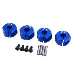 Wholesale Electric Rc Car Wheels - RC Blue Alum 7.0 Wheel Hex 12mm Drive With Pins&Screws 4P For HSP HPI Tamiya Car