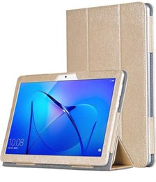 Wholesale huawei mediapad case inch - Silking PU Leather Cover Flip Folding Folio Case for Huawei MediaPad T3 10 AGS-L09 AGS-L03 9.6 inch Tablet + Stylus Pen