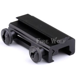 Wholesale 11mm Mounts - 20mm Dovetail to 11mm Mount Weaver Picatinny Rail Base See Through Adapter Scope Accessories