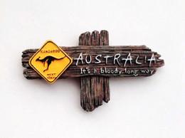 Wholesale Australian Souvenirs - ome Decor Fridge Magnets Australian Kangaroo Signpost Sydney Melbourne Perth Fridge Magnets Tourism Souvenir Refrigerator Magnetic Sticke...