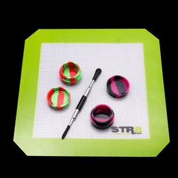 Wholesale E Smokes - Dab tools dabber bongs silicone pad smoking accessories Glass Dabber Tool Wax glass oil rigs Dab Stick Carving tool For Vapor E nails