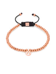 Wholesale Rose Gold Plated Spacer Beads - new design jewelry wholesale gun black plating jewelry nature stone elastic string beads bracelet rose gold Copper triangles Spacer bangle
