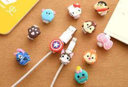 Wholesale Usb For Cartoon - Cute Lovely Cartoon Cable Protector USB Cable Winder Cover Case Shell For IPhone 6 6s 7s plus Samsung S7 S8 cable Protect