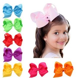 Wholesale Grosgrain Ribbon White Red Black - Baby Large Grosgrain Ribbon Bow Hairpin Clips Girls Large Bowknot Barrette Kids Hair Boutique Bows Children Hair Accessories Christmas Gifts