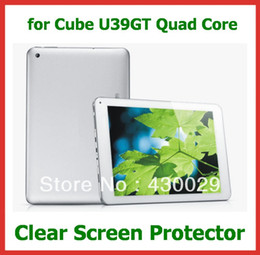 """Wholesale Cube Quad Core - Wholesale- 10pcs Customized Clear Screen Protector Protective Film for 9"""" Tablet PC Cube U39GT Quad Core No Retail Package Size 230x150mm"""