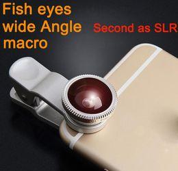 Wholesale External Lens - 3 in 1 Clip + Fisheye + wide angle+ Macro phone camera lens ,universal External special lens kit for smartphones