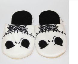 Wholesale Medium Stuffed Animals - 7cm Jack Skellington Plush Slippers The Nightmare Before Christmas Shoes Warm Winter Stuffed Shoes Anime Adult Slipper