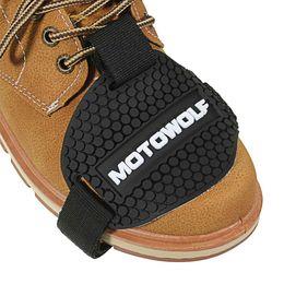 bota de cambio Rebajas Black Rubber Motocross Shift Pad Motocicleta Cambio de marcha Calzado Botas Protector Shift Sock Moto cubierta de la bota
