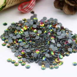 Wholesale Crystal Factory Outlet - Top sale factory outlet best quality hot-fix rhinestone 2028# Austrian Crystal Rhinestone SS6,SS8,SS10,SS16,SS20,1440pcs lot, (Vitrail Medi)