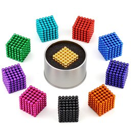 Wholesale 5mm Bucky Ball - 15 color 216pcs 5mm magnetic ball Magic ball buckyballs Neocube neodymium Toy Neo Cubes Puzzle ball Toy Sphere Magnet Magnetic Bucky Balls