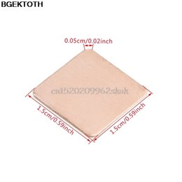 Wholesale Heat Sink Case - Wholesale- 10Pcs 15x15x0.5mm Heatsink Heat Sink Copper Shim Thermal Pads for Laptop GPU CPU #H029#