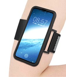 Wholesale Iphone Armband Retail Package - Sport Armband Running Case CellPhone Running Bag workout Arm Band Holder Pounch Bag for iphone X 8 7 6 plus Oneplus5 Retail package