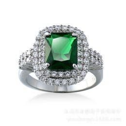 Wholesale Emerald Ring Set - Emerald Diamonique Cz Gold Plated Wedding Ring Engagement Band Sz6-10 New Gift
