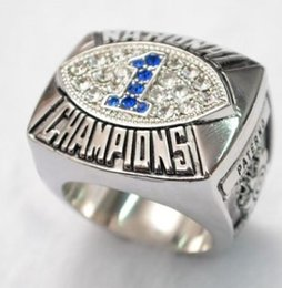 Wholesale Collection Tins - New arrival Men fashion sports collection jewelry 1987 Penn State Nittany Lions championship ring fans souvenir gift
