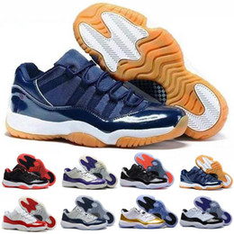 Wholesale Hot Pink Satin Shoes - Wholesale Air Retro X1 11 low QS Bred georgetown basketball shoes Citrus mens athletic trainer sports Hot sell 11s Gold Medal sneaker Women