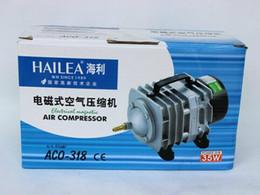Wholesale Hailea Aquarium Air Pump - 70L min 45W Hailea ACO-318 Electromagnetic Air Compressor Aquarium Air Pump Fish Tank Increase Oxygen+Free Shipping