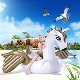 Wholesale Horses Flies - Giant Inflatable Pegasus Unicorn Float Swimming Floats Inflatable Flying Horse Float Pool Toys For Adults Kids Poor Party Decorations
