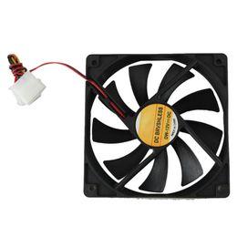 Wholesale 12v Cpu Fans - Wholesale- Computer Case Cooler 12V 12CM 120MM PC CPU Cooling Cooler Fan