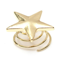 Wholesale Gold Star Hair Pin - Wholesale- Unique Delicate Hairpins Fashion Women Lady Lovely Star Gold Swirl Hair Pins Clip Hairpin Barrettes Gift