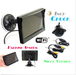 """Wholesale Wireless Rearview Camera Systems - Car Rearview Backup System Wireless Waterproof Reversing Camera + 5"""" LCD Monitor"""