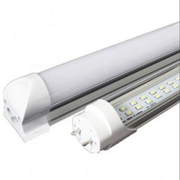 Wholesale Ac Accessories - CREE Integrated T8 Led Tube Light Double Sides 4ft 5ft 6ft 8ft Cooler Lighting Led Lights Tubes sets AC 110-240V With All accessories
