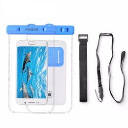 Wholesale Phone Strap Case - Universal Cover Waterproof Case For Phone Pouch Waterproof Bag with Arm Band IPX8 Underwater Diving Swimming Strap Case
