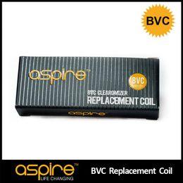 Wholesale Ce5 Coils Ohm - 100% Authentic Aspire BVC Coil Heads Replacement Coils 1.6 1.8 2.1 ohm For Aspire BDC Atomizers CE5 CE5S ET ETS Vivi Nova Mini Vivi Nova BVC