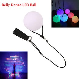 Wholesale Belly Dance Balls - LED POI Thrown Balls Belly Dance LED Ball Multicolor Ball Light for Professional Belly Dance Level Hand Props Luminous Ball Shine Night