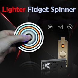 Wholesale Price Usb Lighter - New 3 in 1 Functions usb hand spinner Fidget Spinner Cigarette Lighter LED Hand Spinner Aluminium Alloy USB Charger Cheap price DHL Free