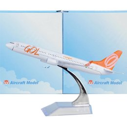 Wholesale Boeing Airplane - Brazil GOL Airlines Boeing 737 16cm decoration airplane models child Small and exquisite Birthday gift plane models