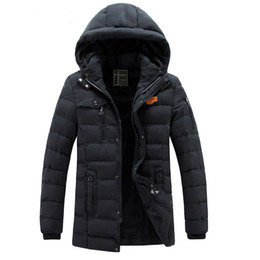 Wholesale Thicken Coat Warm Fur Lining - Brand Winter Parkas Jackets Hoodies Mens Thicken Coats Fur Lining Warm Outwear Overcoat Casual Tops Snow Clothing Clothes