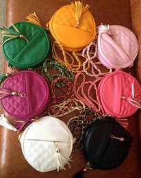 Wholesale Wholesale Fashion Fruit Cake - Manufacturers selling 2016 summer fashion small round cake one shoulder bag aslant bag chain tassel bag booth in supply