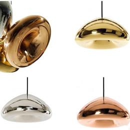 Wholesale Gold Ceiling Chandelier - Tom Dixon Void Pendant Lamp Void Light Copper Silver Gold Void Big Mini Pendant Lamp Ceiling Light Suspension Lighting Chandelier Lamps
