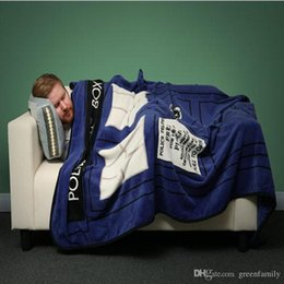 Wholesale Polar Sheets - Fashion BBC Doctor Who Tardis Coral fleece blanket sofa blankets Travel Camping Towels bed sheet