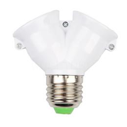 Wholesale Bulb Sockets Types - Universal Extender Home Type E27 to 2E27 LED Bulb Adapter Lamp Light Plug Socket Base Converter