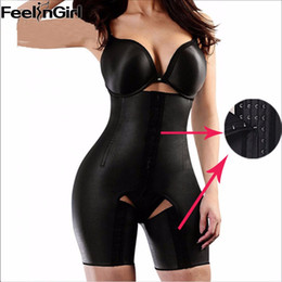 body thigh slim Coupons - Wholesale- Plus Size XS-5XL 4 Steel Bones Latex Waist Trainer Hot Body Shapers Waist Cincher Women Slimming Thigh Shapewear Butt Lifter-5A
