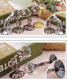 tende alle spalle Sconti Ganci per tende a sfera in metallo di grandi dimensioni di cristallo di grandi dimensioni Ganci per tende a parete con gancio a sfera e gancio per appendere la tenda Tende 4 colori