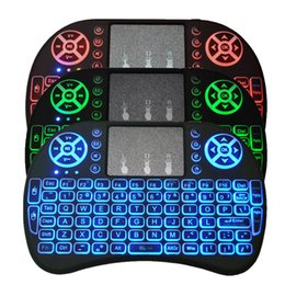 Wholesale Rii I8 - Rii I8 Backlight Backlit 2.4GHz Wireless Mouse Gaming Keyboard colorful Backlight Remote Control for S905X S912 Android TV Box T95 X96 Mxq
