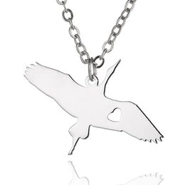 Wholesale Christmas Goose - Wild goose Pendant Necklace Bird Stainless Steel Animals Charm Link Chain Jewelry for Women and Men Children Gifts Wholesale