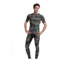 Wholesale Green Camouflage Shirt - T-shirt Men's Camouflage T-shirt Men's Camouflage Tights Sports Men's