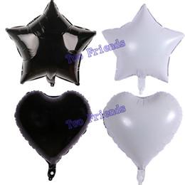 Blanc noir étoile coeur feuille ballons balle 40 pcs 18 polegada fête d'anniversaire décorations halloween bébé douche hélium gonflable Globos ? partir de fabricateur