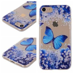 Wholesale Tpu Flower Rose - For Iphone 7 Plus 6 6S 6P 6+ SE 5 5S Butterfly Flower Soft TPU Case Forest Rose Dreamcatcher Cartoon Floral Skin Henna Cover Fashion 2017