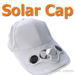 Wholesale Cool Hats Fans - Solar Power Fan Hat Cooling Cool Fan for golf Baseball Hiking FishingOutdoor Cap