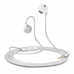Wholesale Iphone Headphone Plugs - S10 Stereo Headphone with MIC Noise Cancelling 3.5MM Plug Microphone Wire Control HIFI in-ear Earphone For Xiaomi iPhone 6s Samsung HTC HUAW