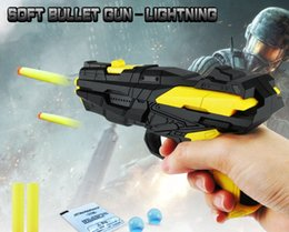 Wholesale Used Bullets - Creative Children's toys Multi-function Soft gun Dual-use EVA Bullets Water Pistol Wholesale DHL or SF EXPRESS free shipping