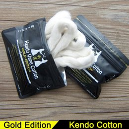 Canada Original Kendo Vape Cotton Japanese Organic Kendo Cotton Gold Edition pour DIY RDA RTA RDTA Atomizer Tank DIY E Cigarette Heat Wire Cotton e japanese promotion Offre