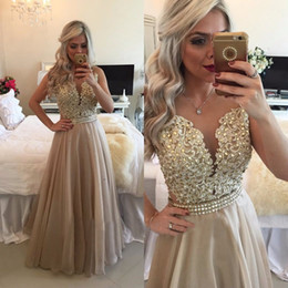 Wholesale Dress Line Floor Lenght - 2017 See Through Burgundy Prom Dresses with Crytals Floor Lenght Long Appliqued Vestido De Festa A Line Evening Party Gowns
