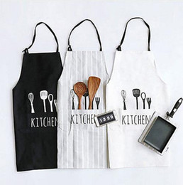 Wholesale Restaurant Wholesalers - Fashion Unisex Women Man Aprons Commercial Restaurant Home Bib Spun Poly Cotton Kitchen Aprons